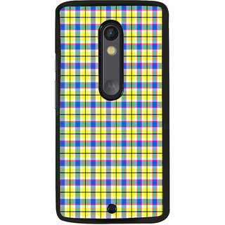 ifasho Modern Theme of white dots in black background Back Case Cover for Moto X Play