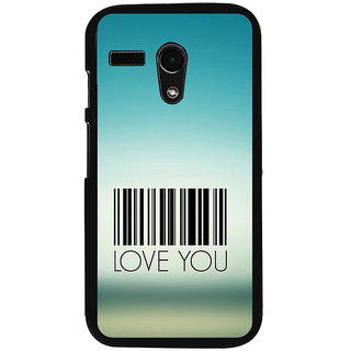 ifasho Love Quotes I love you Back Case Cover for Moto G