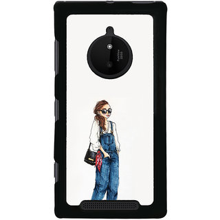 ifasho Girl in jeans Back Case Cover for Nokia 830