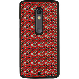 ifasho Modern Art Design animated cloth Pattern of flower Back Case Cover for Moto X Play
