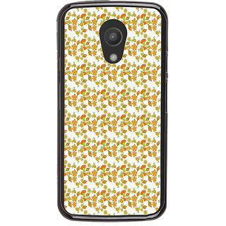ifasho Modern Art Design animated cloth Pattern of flower Back Case Cover for Moto G2