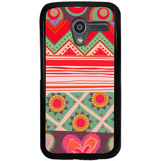 ifasho Animated Pattern colrful tribal design Back Case Cover for Moto X