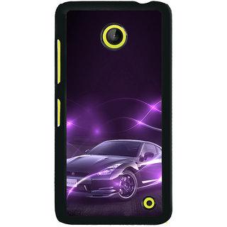 ifasho Purple car Back Case Cover for Nokia Lumia 630