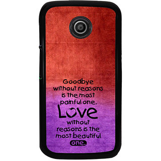 ifasho Love Quote Back Case Cover for Moto E2