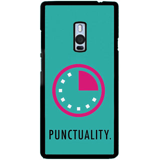 ifasho Puncutality Back Case Cover for One Plus Two