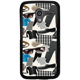 ifasho Modern Art Design Pattern man dress shoes spec belt Back Case Cover for Moto X