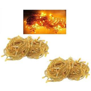 Offbeat Rice Bulbs 4 Meter Diwali Decorative Lights Set Of 2-Yellow