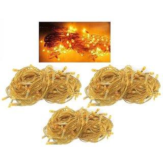 Offbeat Rice Bulbs 8 Meter Diwali Decorative Lights Set Of 3-Yellow