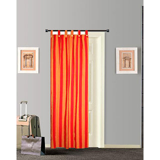 TIDY RED WITH YELLOW COLOUR 100 EXCLUSIVE COTTON LOOP DOOR CURTAIN - SET OF 1PCs