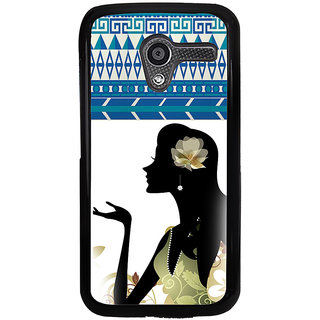 ifasho Girl  with Flower in Hair Back Case Cover for Moto X