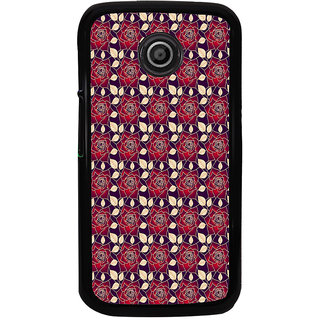 ifasho Animated Pattern black and white many lotus flower Back Case Cover for Moto E