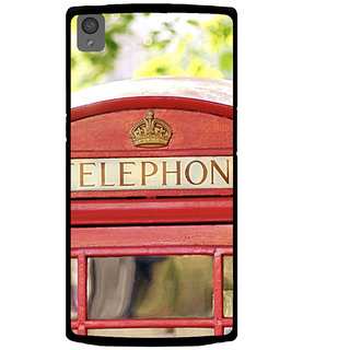 ifasho Telephone booth  Back Case Cover for One Plus X