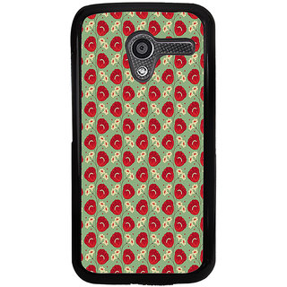 ifasho Animated Pattern flower with leaves Back Case Cover for Moto X