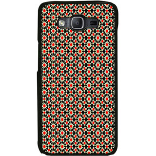 ifasho Animated Pattern design black and red flower in white background Back Case Cover for Samsung Galaxy E5