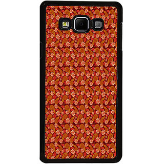 ifasho Animated Pattern colrful design flower with leaves Back Case Cover for Samsung Galaxy A8