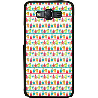 ifasho Modern Art Design Pattern Lot Doll and postbox  Back Case Cover for Samsung Galaxy E5