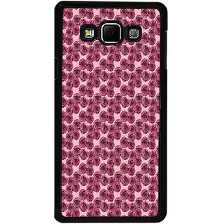 ifasho Animated Pattern small purple rose flower Back Case Cover for Samsung Galaxy A8