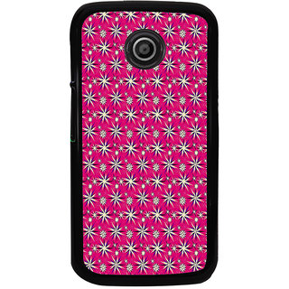 ifasho Pattern green white and red animated flower design Back Case Cover for Moto E