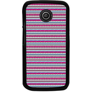 ifasho Animated Pattern colrful traditional design Back Case Cover for Moto E
