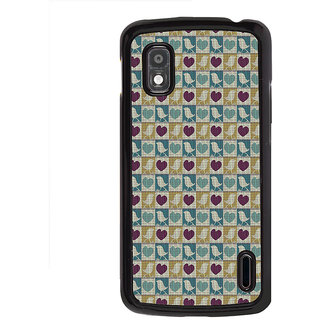 ifasho Animated Pattern birds and heart small size  Back Case Cover for LG Google Nexus 4
