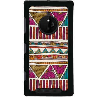 ifasho Animated Pattern colrful tribal design Back Case Cover for Nokia 830