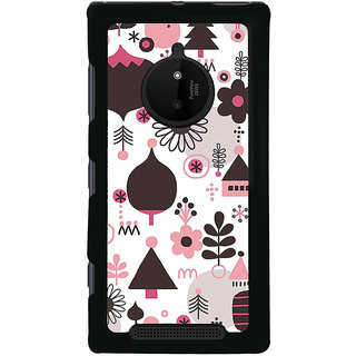 ifasho Animated Pattern colrful tribal design cartoon flower Back Case Cover for Nokia 830