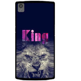 ifasho Angry Lion King Back Case Cover for One Plus X