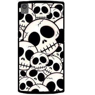 ifasho Modern  Design skeleton Pattern Back Case Cover for One Plus X