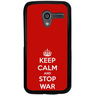 ifasho Nice Quote On Keep Calm Back Case Cover for Moto X