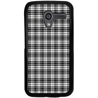 ifasho Modern Theme of black and white Squre lines Back Case Cover for Moto X