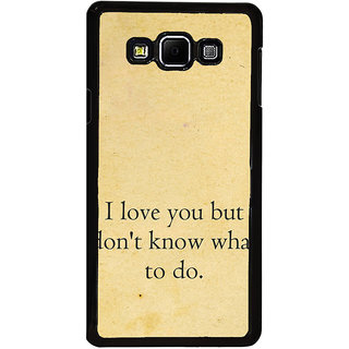 ifasho Love Quotes I love you Back Case Cover for Samsung Galaxy A8