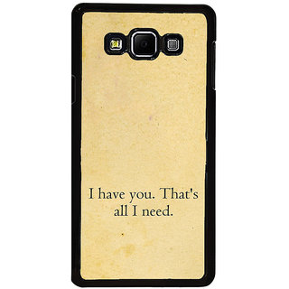 ifasho I have you thats all I need Back Case Cover for Samsung Galaxy A8