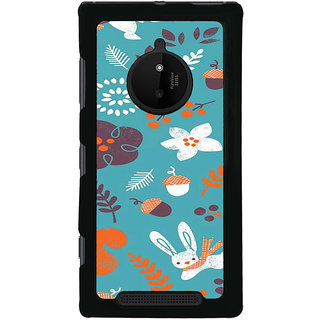 ifasho Animated Pattern Animal AND creature Back Case Cover for Nokia 830
