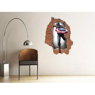 Decore kafe captain america vertical 3d Art sticker