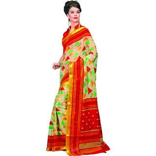Miraan Chanderi Cotton with Zari Border Saree For Women SRH85