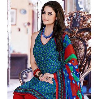 INDDUS Unstitched Suit with Dupatta