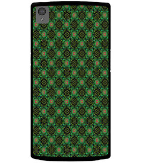 ifasho Pattern green red and black flower design Back Case Cover for One Plus X