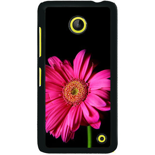 ifasho Flower Design Pink flower in black background Back Case Cover for Nokia Lumia 630