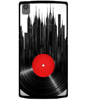 ifasho gramophone recod animated design as tower Back Case Cover for One Plus X