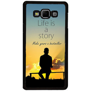 ifasho Good messge on Books life is a story Back Case Cover for Samsung Galaxy A8