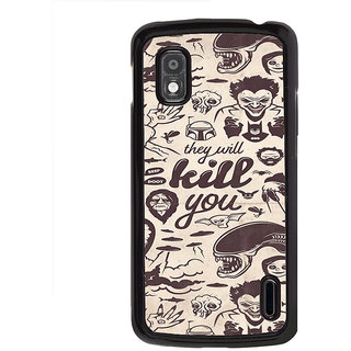 ifasho Animated Pattern horror skeleton and daring Back Case Cover for LG Google Nexus 4
