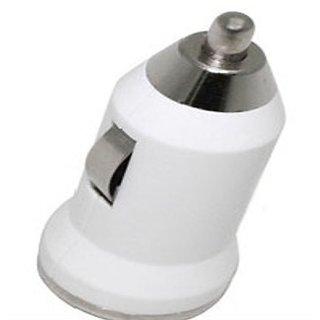 Universal USB 2.0 Bullet Car Charger for  MARUTI ERTIGA   LXI (White)
