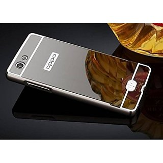 competitive price 666d4 fe25d Oppo Neo 5 Case Cover, Luxury Metal Bumper + Acrylic Mirror Back Cover Case  For Oppo Neo 5 - Black