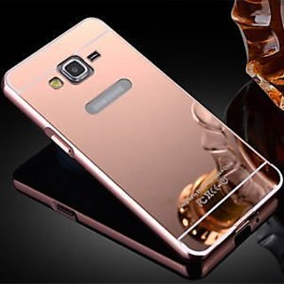 best sneakers 8541f 63897 Samsung Galaxy J5 Case Cover, Luxury Metal Bumper + Acrylic Mirror Back  Cover Case For Samsung Galaxy J5 - Rose Gold