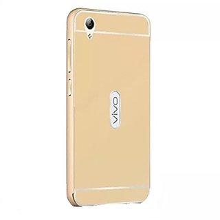 Buy VIVO Y51 Case Cover, Luxury Metal Bumper + Acrylic Mirror Back Cover Case For VIVO Y51 - Gold Online - Get 40% Off