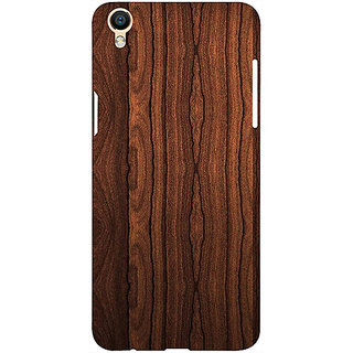 Casotec Wooden Texture Design 3D Printed Hard Back Case Cover for Oppo F1 Plus
