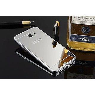 Samsung Galaxy A7 (2016) SM-A710Case Cover, Luxury Metal Bumper + Acrylic Mirror Back Cover Case For Samsung Galaxy A7 (2016) SM-A710 - Silver