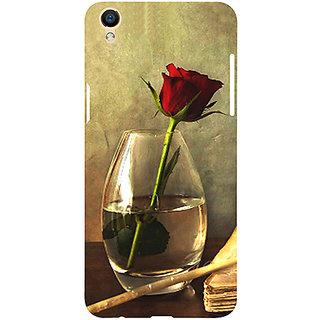 Casotec Rose Red Design 3D Printed Hard Back Case Cover for Oppo F1 Plus