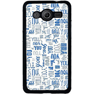 ifasho You letter pattern Back Case Cover for Samsung Galaxy Core 2 G355H