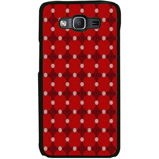 ifasho Design Clourful red and white Circle Pattern Back Case Cover for Samsung Galaxy E5